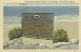 """Prince Madoc Memorial Marker, at Fort Morgan, near Mobile, Alabama."""