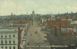 """Dexter Ave., and State Capitol, Montgomery, Ala."""