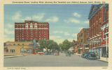 """Government Street, Looking West, Showing Bus Terminal and Admiral Semmes Hotel, Mobile,..."
