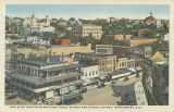 """Bird's Eye View Showing Court House, Church and School District, Montgomery, Ala."""