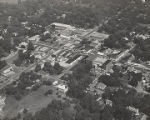 Aerial view of Linden, Alabama.