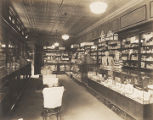 Interior of a drugstore in Boaz, Alabama.
