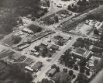 Aerial view of Chatom, Alabama.