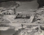 Construction of the Lock 3 Dam of the Alabama Power Company on the Coosa River in St. Clair...
