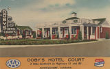 """Doby's Hotel Court, 3 Miles Southwest on Highways 31 and 80, Montgomery, Alabama."""