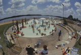 People in a wading pool at Point Mallard Park in Decatur, Alabama.