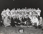 Governor George Wallace with members of the Citronelle High School football team, who had just...