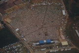 Aerial view of the annual Alabama June Jam in Fort Payne, Alabama.