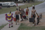 Participants leaving the Southeast Cherokee Annual Pow Wow in Columbia, Alabama.