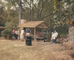 Men cooking syrup during Sorghum Sopping Days, a festival in Waldo, Alabama.