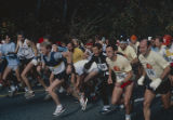 Participants at the start of the Vulcan Run, a 10K race in Birmingham, Alabama.