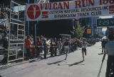 Finish line of the Vulcan Run, a 10K race in Birmingham, Alabama.