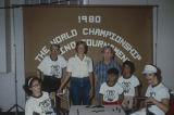 Participants in the 1980 World Championship Domino Tournament in Andalusia, Alabama.