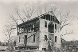 Front (west) and south side of the Hopkins Pratt House in Centreville, Alabama, during its...