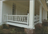Porch detail of the Cecil Donald House in Monterey, Alabama.