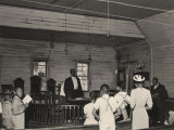 Sunday school at the Colored Methodist Episcopal Church.