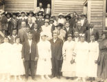 The wedding of Marshall Rhodes and his second wife.