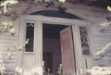 Main doorway of the Slaton House in Autaugaville, Alabama.
