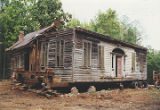 Front (south) and west side of the Slaton House in Autaugaville, Alabama, before it left original...