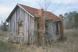 Two-room tenant house (board and batten) at Jones Bluff, Alabama.