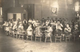 Kindergarten class at Cowikee Mills in Eufaula, Alabama.