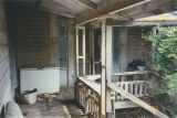 Back porch and rear door of the Marshall Plantation in Midway, Alabama.
