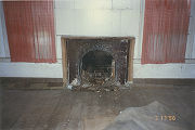 Arched parlor mantelpiece of the Marshall Plantation in Midway, Alabama.