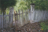 Original picket fence to the formal garden of the Marshall Plantation in Midway, Alabama.