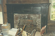 Mantelpiece of the Cecil Cash House, half a mile from the intersection of Alabama Highway 183 and...
