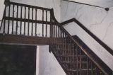 Stairway of the Manoah B. Hampton House in Leighton, Alabama.