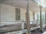 Porch detail of the Bixler House, south of U.S. Highway 84 near the west bank of the Alabama River...