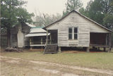 Side view of the Bixler House, south of U.S. Highway 84 near the west bank of the Alabama River in...