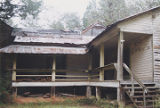 Rear wing porch of the Bixler House, south of U.S. Highway 84 near the west bank of the Alabama...