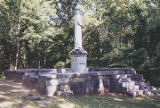 General view of the Abraham Ricks burial plot at the LaGrange Mountain Cemetery in Leighton,...
