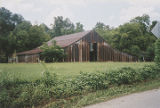 "Barn on the Davis Farm (Caver-Christian House, ""Boiling Spring"") in Oxford, Alabama."