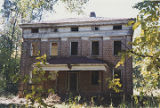 Facade (eastern elevation) of Elm Bluff (Crocheron house) at Elm Bluff Landing in Sardis, Alabama.