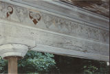 Detail on the inner face of an entablature of Elm Bluff (Crocheron house) at Elm Bluff Landing in...
