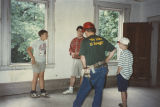"Boy Scout ""mothballing"" crew from Clanton inside Elm Bluff (Crocheron house) at Elm..."