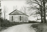Pre-restoration view of the Ebenezer Presbyterian Church in Clinton, Alabama.