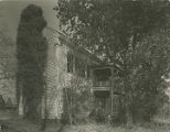 Front (southern) and west side elevation of Forest Home, one mile east of Trinity, Alabama.