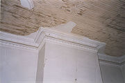 Plaster cornice of the Cloud House in Cherokee, Alabama.