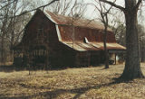 Barn at Eden (Boykin plantation house) in Tilden, Alabama.