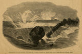 """Destruction of the Monitor 'Tecumseh' by a Rebel Torpedo, in Mobile Bay, August 5,..."