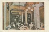 """Main Dining Room, Exchange Hotel, Montgomery, Ala., Jas. E. Hickey Hotel Co., Proprs."""