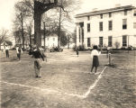 Students playing badminton at Stillman Institute, Tuscaloosa, Alabama.