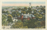 """Bird's Eye View of Residence Section and Water Tower from State Capitol, Montgomery,..."