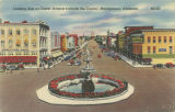"""Looking East on Dexter Avenue towards the Capitol, Montgomery, Alabama."""