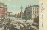 """Cotton Scene, Court Square, Montgomery, Ala."""