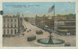 """Dexter Avenue looking East, showing Capitol, Montgomery, Ala."""
