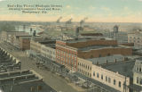 """Bird's Eye View of Wholesale District, showing Commerce Street and River, Montgomery,..."